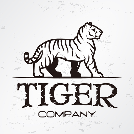 Tiger Logo Emblem Template Brand Mascot Symbol For Business