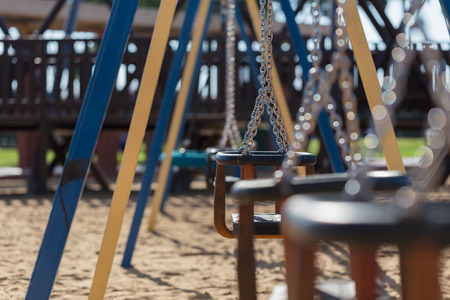 on playground: Chain swing of the playground.