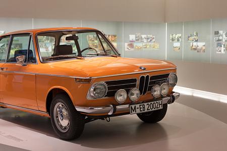 bmw: Munich, Germany - August 2014; BMW car on dispaly in BMW Museum.