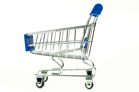 Grocery cart. A thumbnail. Isolated on a white background
