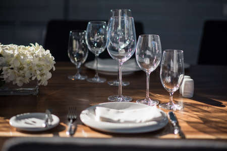 Dining Set Tables Stock Photo