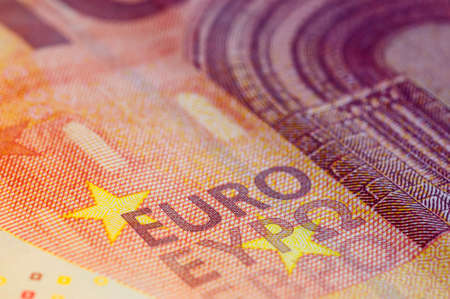 macro: Ten Euro Banknote in a macro shot.