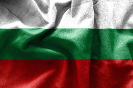 Drapeau de la Bulgarie Banque d'images