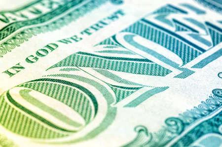 US un dollar bill gros plan macro, 1 usd billet de banque, portrait de George Washington, les etats unis d'argent