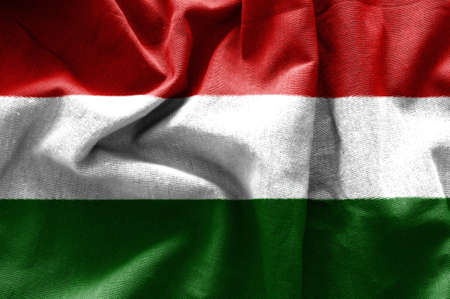 Flag of Hungary Banque d'images