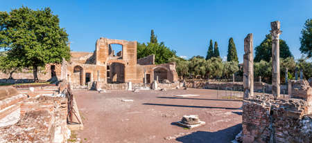 The Hadrian's Villa (Villa Adriana in Italian) is a large Roman archaeological complex at Tivoli, Italy. It was meant to be a retreat from Rome for the Emperor in the early 2nd century.