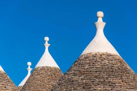 Trulli dans la ville italienne du sud de Alberobello, Pouilles, Italie Banque d'images
