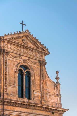 Église de Saint-François. Ostuni. Pouilles. Italie. Banque d'images