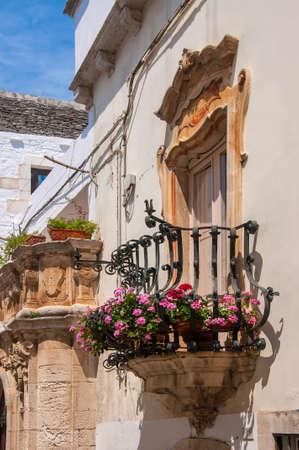 A view of Locorotondo, a beautiful white village in Apulia, Italy.