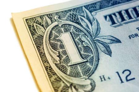 US one dollar bill closeup macro, 1 usd banknote, George Washington portrait, united states money Stock Photo