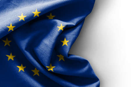 Flag of Europe on white background Standard-Bild