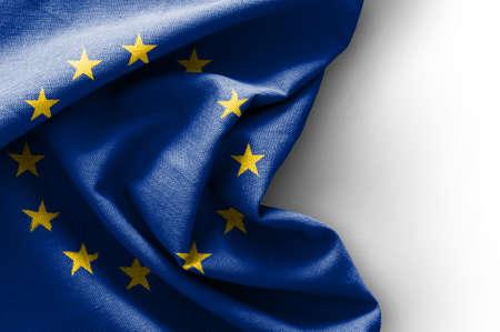 Vlag van Europa op een witte achtergrond