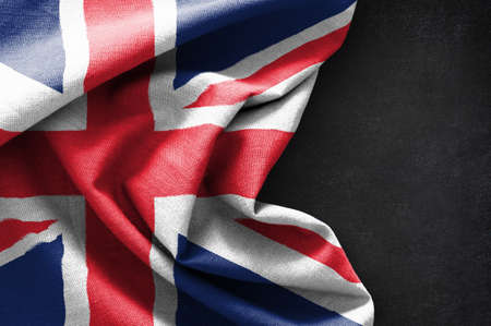 Flag of United Kingdom on blackboard background