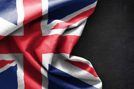 Flag of United Kingdom on blackboard background