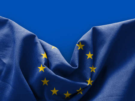 Flag of Europe on blue background