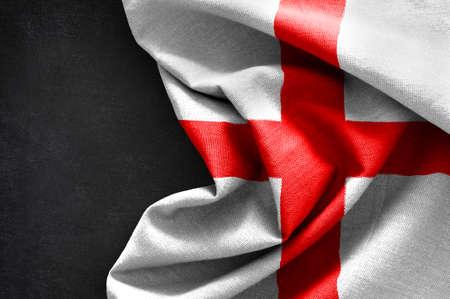 Flag of England on blackboard background Stock Photo