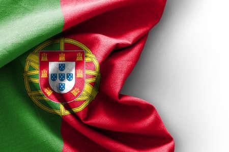 Drapeau du Portugal sur fond blanc, le rendu 3D Banque d'images