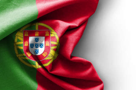 Flag of Portugal on white background, 3D rendering