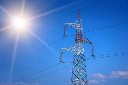 Electricity pylons Banque d'images