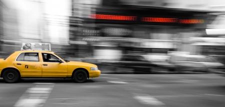 New York Taxi Cab Stock Photo