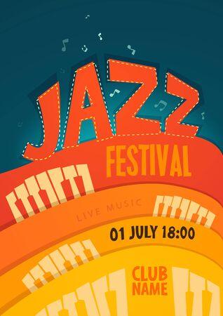 jazz: JAZZ concert music background vector illustration flat style Illustration