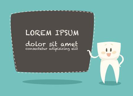 dientes sanos: Dentista Entrar tarjeta de visita blancos dientes, ilustración vectorial, diseño plano sano