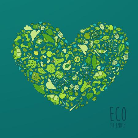 Eco Friendly, green energy concept, vector illustration, flat design