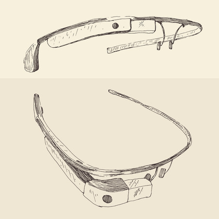 ocular: Vector illustration set of vintage retro old camera hand drawn engraved style Illustration