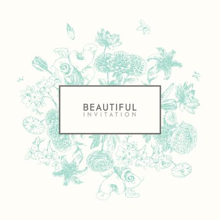 silhouette fleur: Collection tendance de belles fleurs dessinées à la main, collection ensemble floral d'éléments de conception isolé illustration sur fond blanc