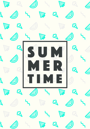 holiday icons: Set of trendy linear style summer holiday icons Vector illustration