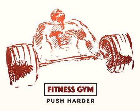 dibujado a mano ilustración de hombre fuerte para el logotipo o cartel Logos