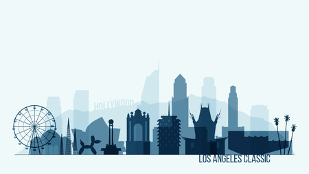 New York skyline buildings vector illustration