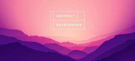 Colored mountain landscape design.