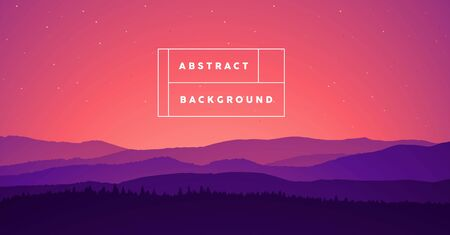 Landscape mountain Abstract