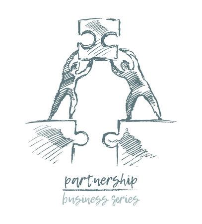Business concept partnership teamwork vector