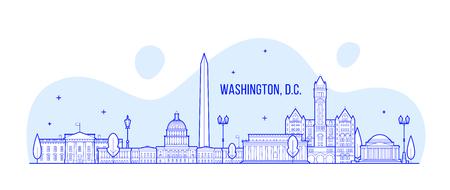 Washington, D. C. skyline USA city building vector