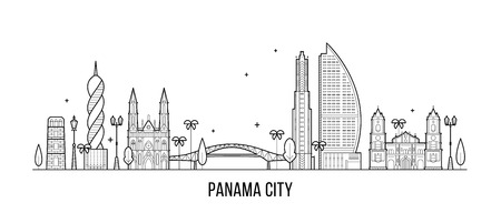 Panama City skyline Republic Panama city vector