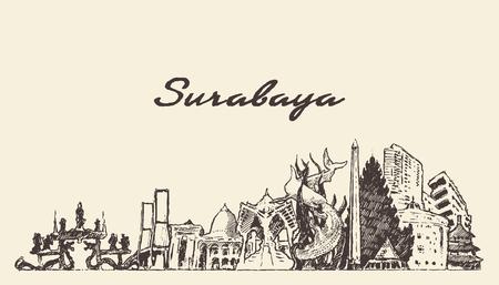 Surabaya skyline East Java Indonesia