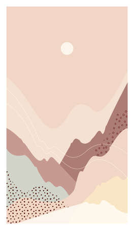 Abstract mountain landscape a mount warm vector