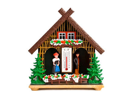 celsius: weather house from the black forest germany