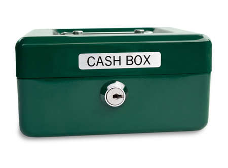 cash box isolated on white background