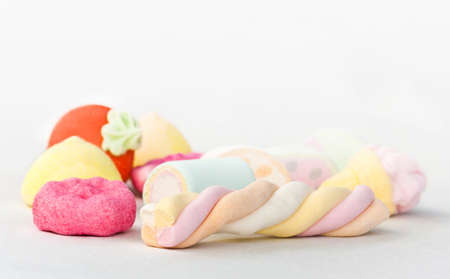 marshmallows in various shapes and colors