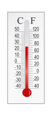 celsius: thermometer with both celsius and fahrenheit degrees