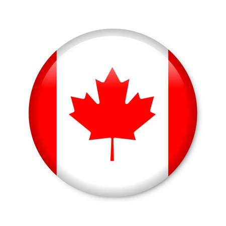 ruggedness: canada - glossy button with flag Stock Photo
