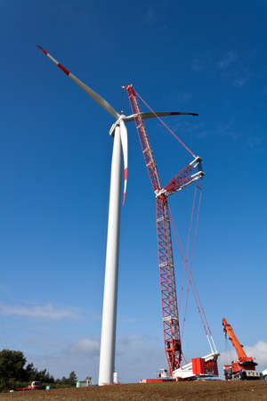 wind power station under construction