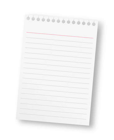 Notepad with a red line on top