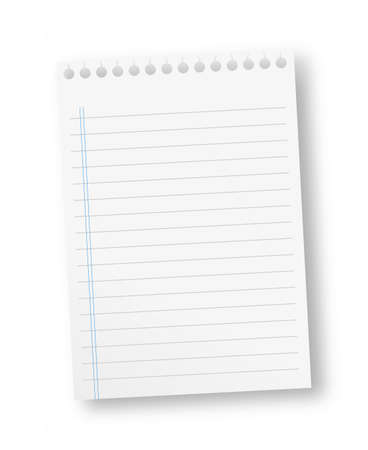 Notebook paper with vertical blue lines Stock Photo - 13762537