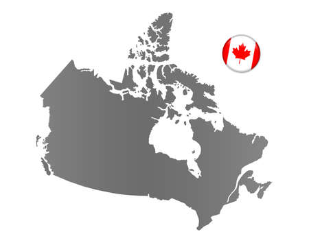 national colors: Canada map with a magnet in national colors