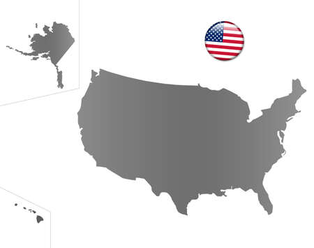 United States map with a magnet in national colors photo