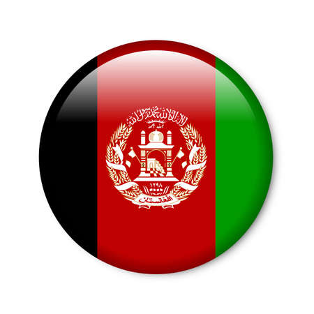 Afghanistan - glossy flag button photo